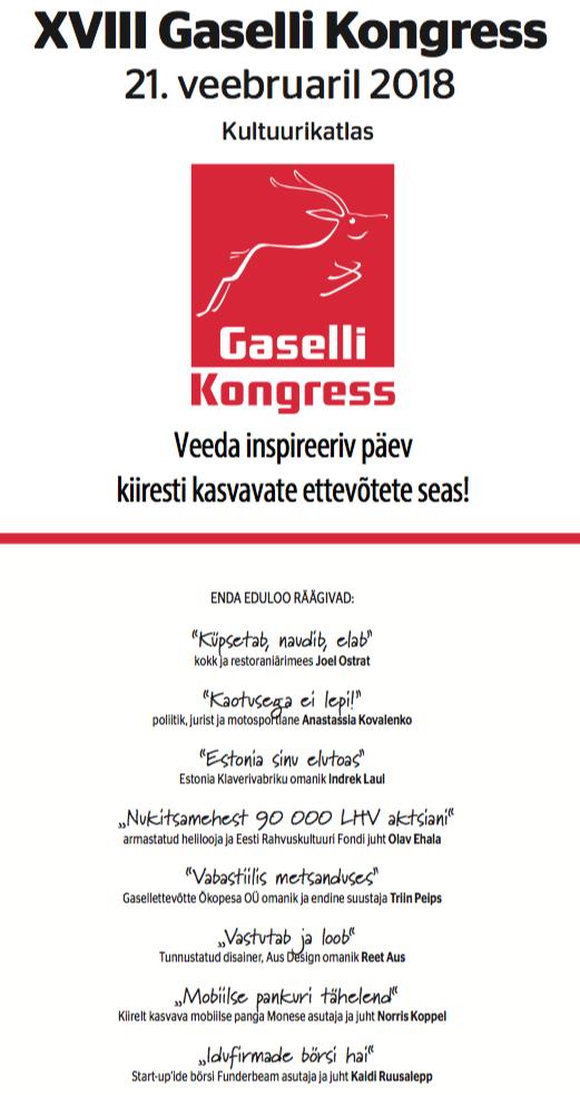 Gazelle Congress 2018 - Tallinn Creative Hub