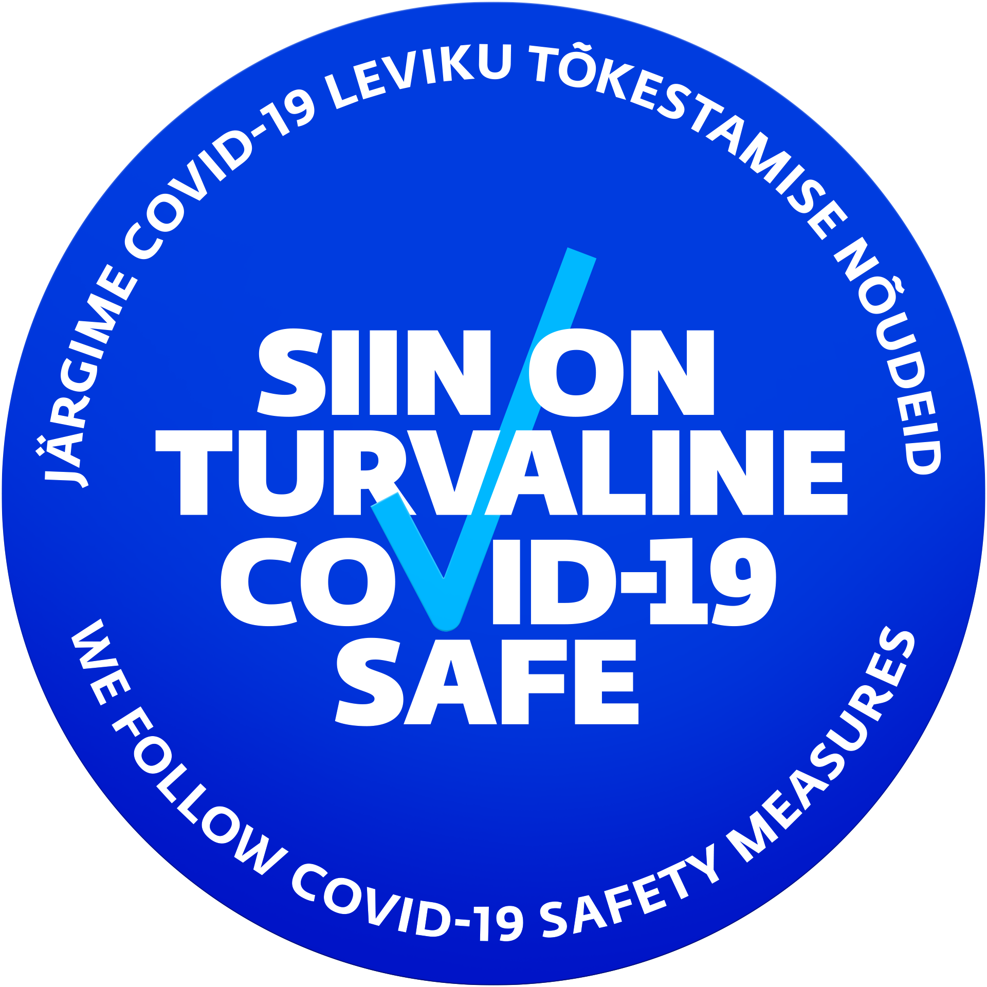 We follow Covid-19 safety measures