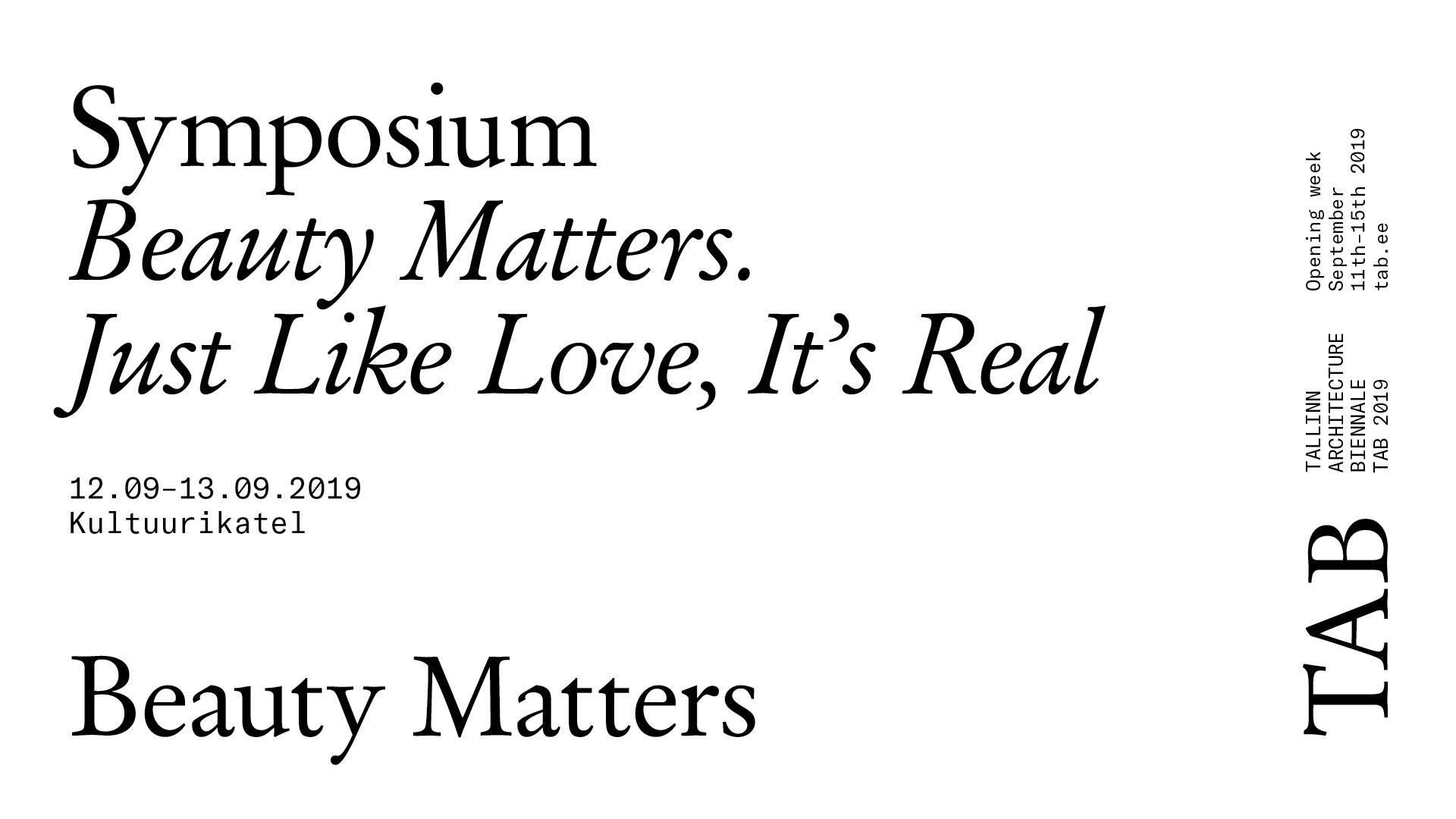 """9657TAB 2019 esitleb:  sümpoosion """"Ilu loeb. Nagu tõeline armastus"""""""